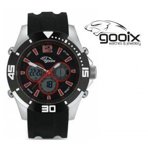 Relógio Gooix® Buzzer Cronógrafo Digital | Preto | Vermelho | 10ATM