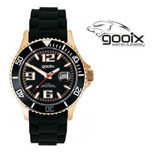 Relógio Gooix® Kimba Preto I Dourado I 10ATM