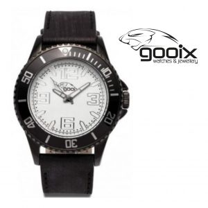 Relógio Gooix® Merek Preto | Branco | 10ATM