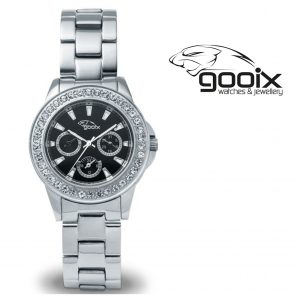 Relógio Gooix® Adissa Bling | Mostrador Preto | 5ATM