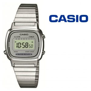 Relógio Casio® LA670WEA-1 Prata | Cinza
