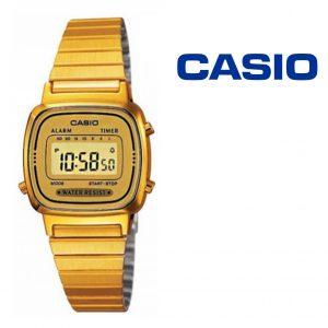 Relógio Casio® LA670WEGA-9 Dourado