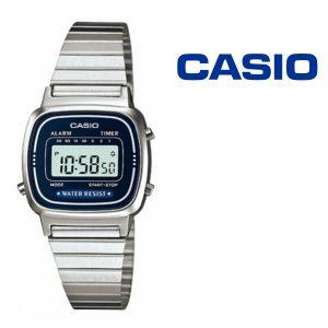 Relógio Casio® LA670WA Prata | Azul