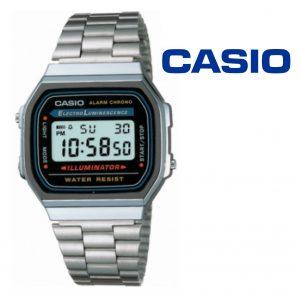 Relógio Casio® 168WA-1W Prata