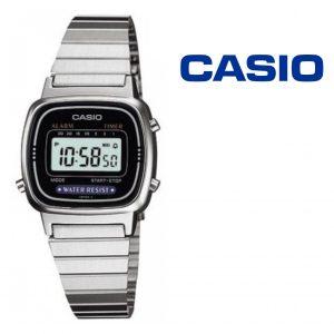 Relógio Casio® LA670WEA-1 Prata | Preto