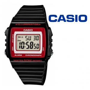 Relógio Casio® W-215H Digital Preto | Vermelho