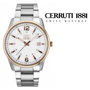 Relógio Cerruti 1881® Ravello Prateado & Dourado | 5ATM