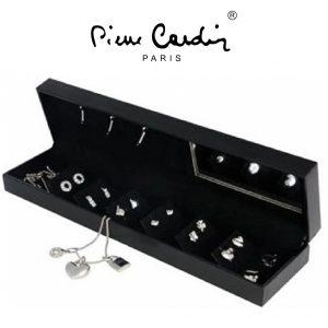Conjunto Pierre Cardin® Crystal Pendant Silver | 1 Colar, 12 Brincos e 3 Pendentes