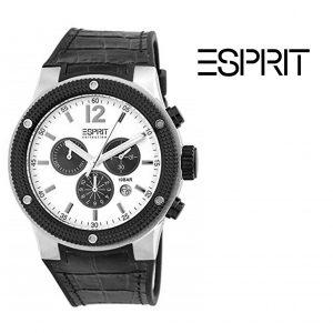 Relógio Esprit® Bracelete Pele | Cronógrafo | Data