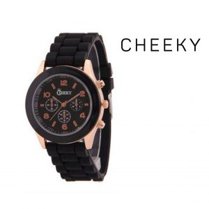 Montre Cheeky Black Gold | Bracelet Silicone
