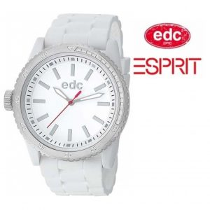 Relógio EDC by Esprit® Rubber Starlet Pure White | Silver | 3ATM