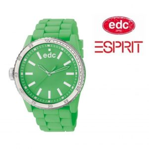 Relógio EDC by Esprit® Rubber Star Waterfall Green | 3ATM