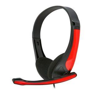 Auriculares Com Microfone Omega Freestyle  Vermelho