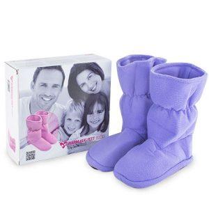 Botas de Microondas Snozie Boots | Rosa | Roxo e Preto
