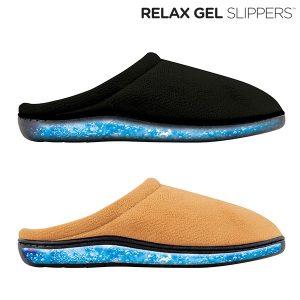 Chinelos Relax Gel | Confortáveis com Sensação Geral de Bem-Estar | Preto e Bege