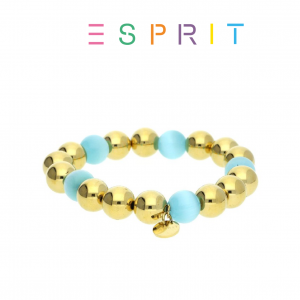 Esprit® Pulseira Contas | Dourado e Turques