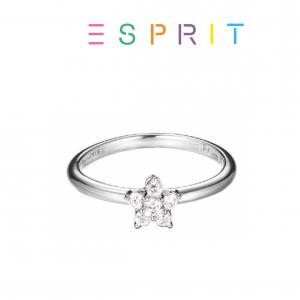Esprit® Anel Estrela de Prata com Brilhantes Swarovski | 18mm