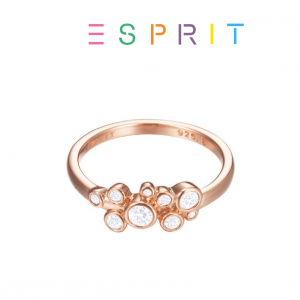 Esprit® Anel Rose Gold com Cristais | 18mm