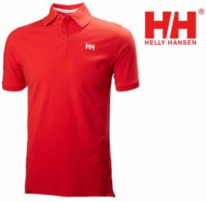Helly Hansen® Polo Vermelho ou Branco com Riscas na Manga e Gola