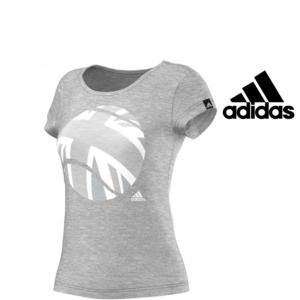 Adidas® T-Shirt London Tennis Cinzenta | Tecnologia Climalite®