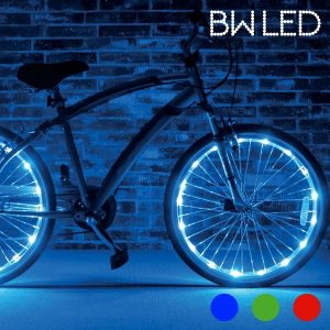 Luz Led Bw Para Rodas De Bicicleta | Inclui 2 Tubos De Luz Impermeáveis