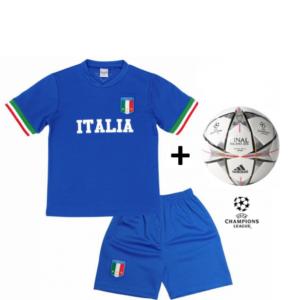 Adidas Mini Bola Oficial + Conjunto Itália Réplica Camisola E Calções Criança