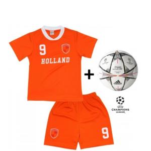 Adidas Mini Bola Oficial + Conjunto Holanda Réplica Camisola E Calções Criança
