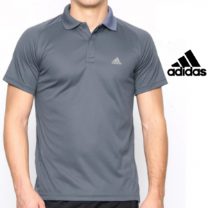 Adidas® Polo Training Essentials Cinza | Tecnologia Climalite®