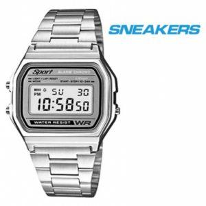 Relógio Sneakers® 40534 Prateado | 3ATM