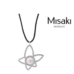 Collar Misaki® QCRPLOTUSFLOWER | Silver & Black