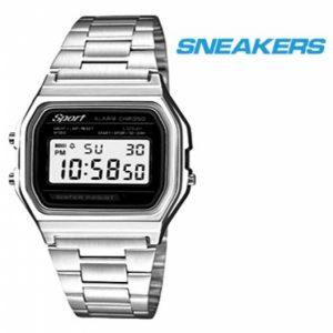 Relógio Sneakers® 40533 Prateado | Preto | 3ATM