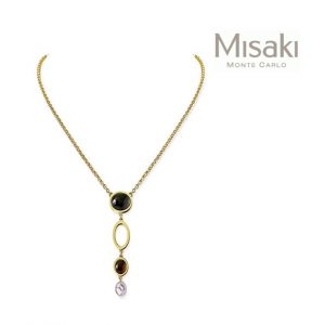Colar Misaki® QCRPMONALISA  | Gold & Black