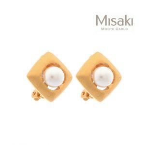 Brincos Misaki® QCRCMIRAMAR | Gold & White