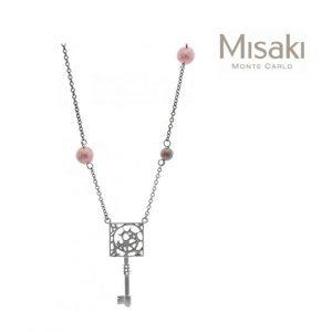 Colar Misaki® QCRPJOSEPHINEKEY | Silver & Bronze