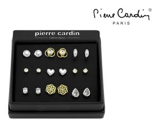 Conjunto Pierre Cardin® Gold and Silver | 9 Pares de Brincos
