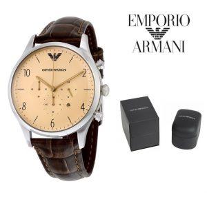 Relógio Emporio Armani® Classic Cream Dial Brown