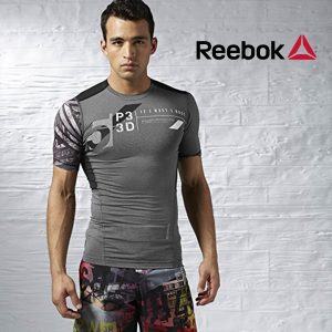 Reebok® T-Shirt Compression Training Grey