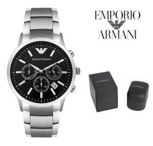 Relógio Emporio Armani® Classic Chronograph Black Dial