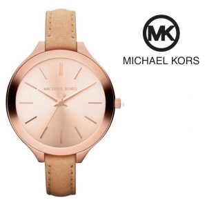 Relógio Michael Kors® Slim Runway Rose Gold Dial Brown | 5ATM