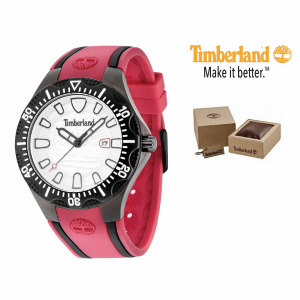 Timberland® Relógio Dixiville | Bracelete Vermelha | 10ATM