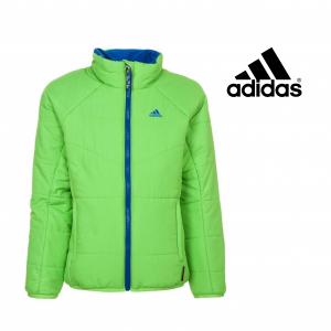 Adidas® Casaco Impermeável Júnior | Verde e Forro Azul