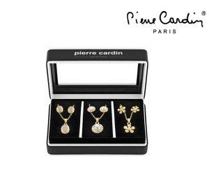 Conjunto Pierre Cardin® Triple Dream Gold & Silver | 3 Colares e 6 Brincos