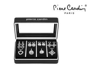 Conjunto Pierre Cardin® Stars & Silver Hearts | 1 Colar, 4 Pendentes e 8 Brincos