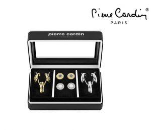 Conjunto Pierre Cardin® Silver and Gold Circles | 2 Colares e 10 Brincos