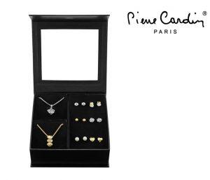 Conjunto Pierre Cardin® Heart & Flower | 2 Colares e 12 Brincos