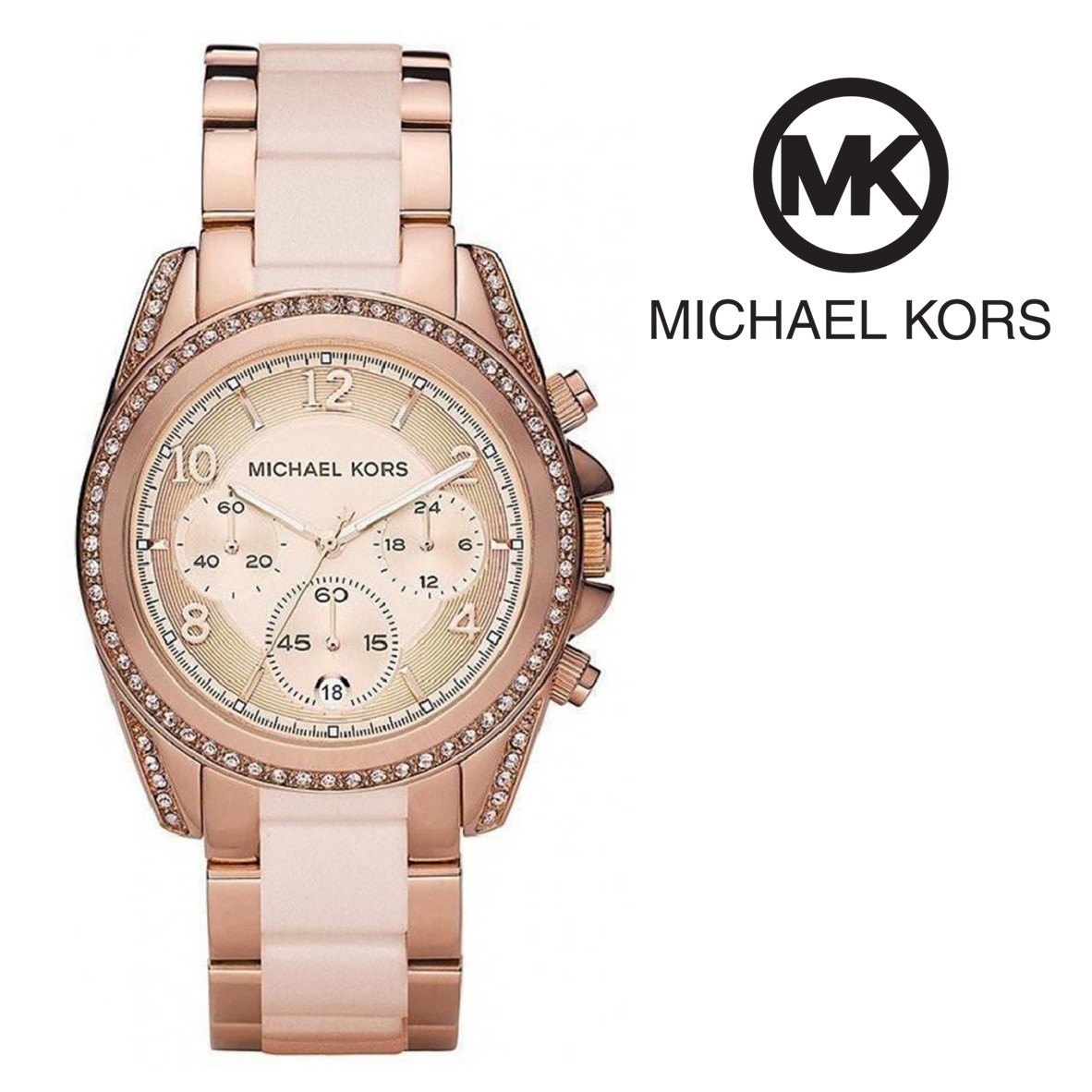 Relógio Michael Kors® Blair Chronograph   10ATM - You Like It 382f9c260e