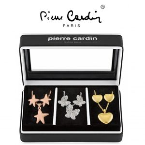 Conjunto Pierre Cardin® 3 Combinações Colar e Brincos | Dourado, Prateado e Rose Gold