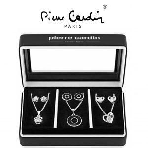 Conjunto Pierre Cardin® 3 Colares e 6 Brincos | Prateado