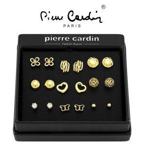 Conjunto Pierre Cardin® Gold | 9 Pares de Brincos