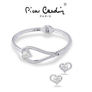 Conjunto Pierre Cardin® Secret Crush | 1 Pulseira e 2 Brincos
